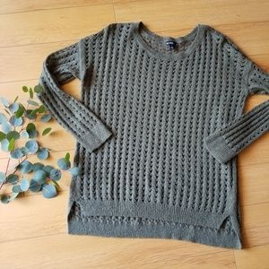 Valette Olive Green Knit Sweater